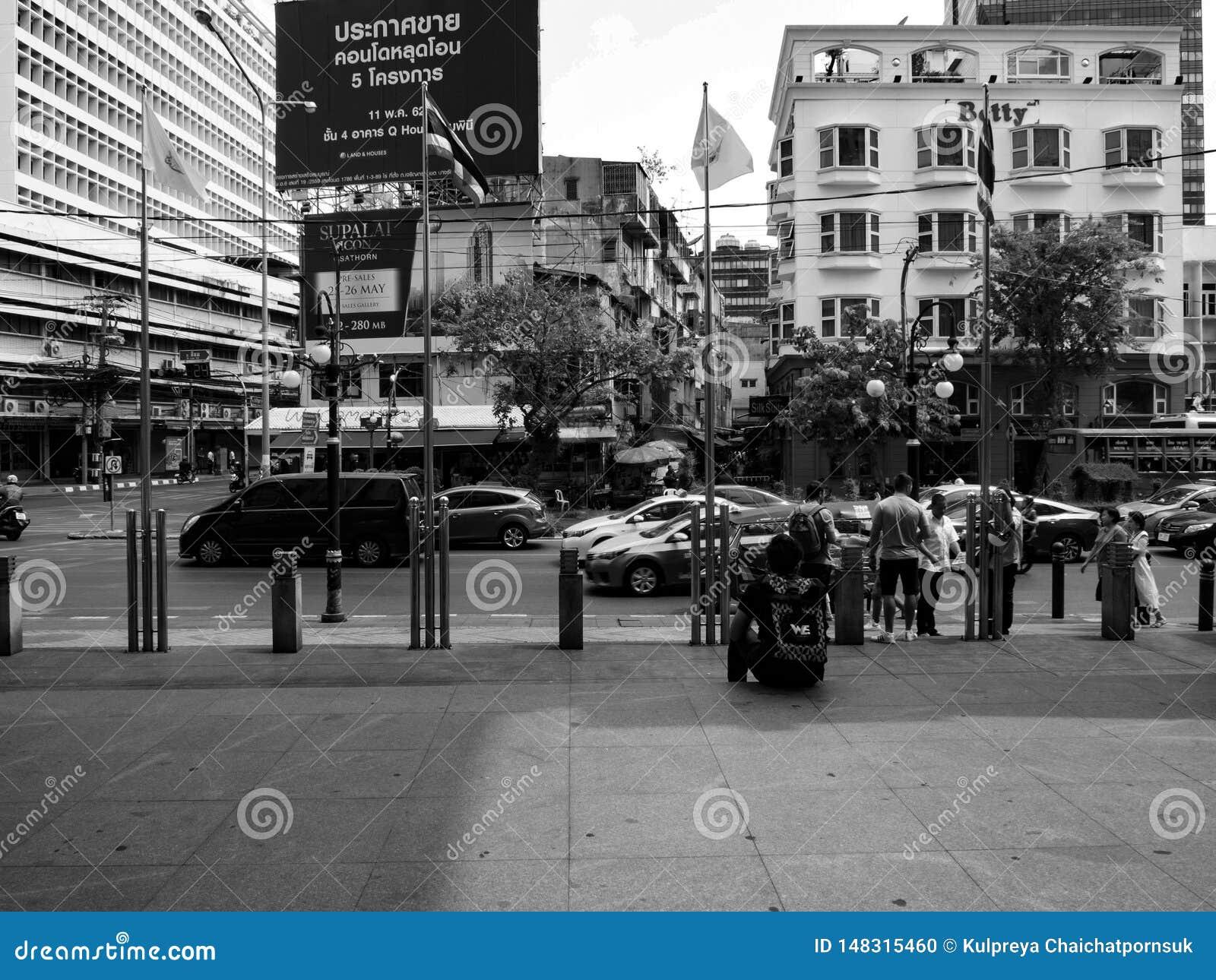 Bangkok Thaïlande, à 11 peut 2019, personnes de race noire blanches de route de rue