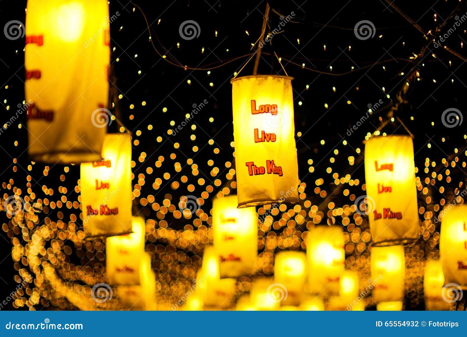 BANGKOK, THAÏLANDE - DÉCEMBRE 27,2015 : Coloré de la lampe fastival