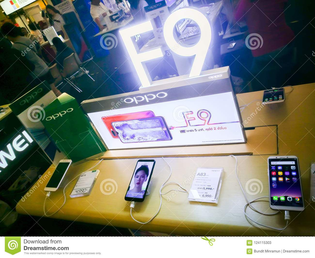 Oppo F9 Mobile Phone Displaying At Digital Gadget Expo