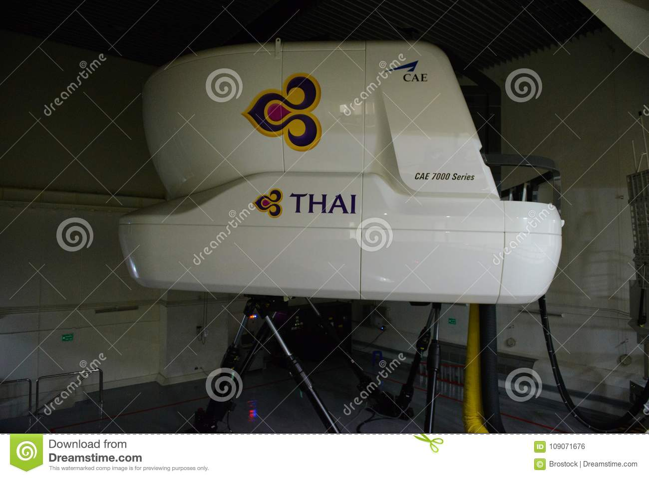 Bangkok, Thailand – December 5, 2017 : Thai Airways Airbus 380-800