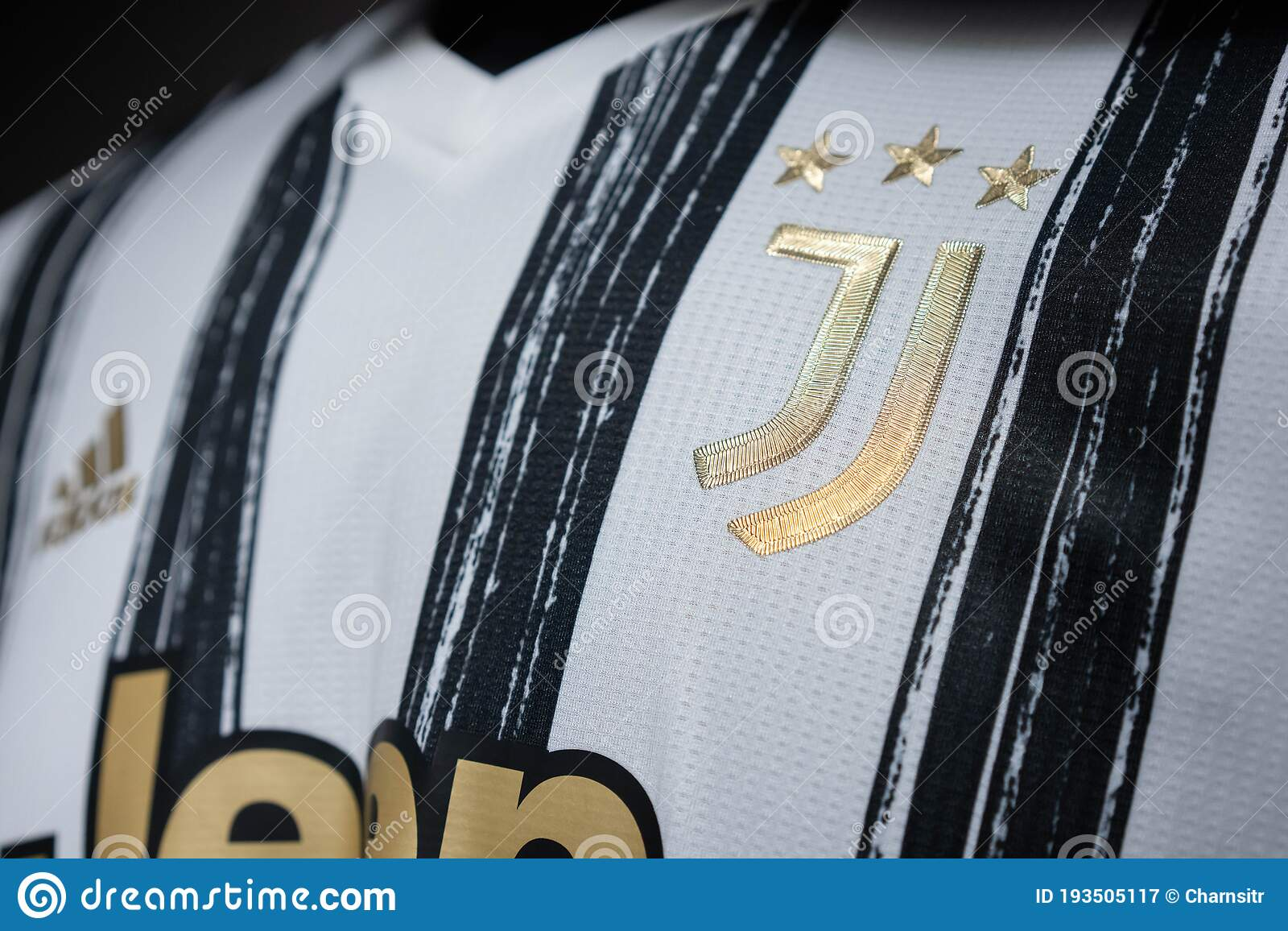 Close Up On Logo Of Juventus Football Club On An Official 2020 Jerseys Editorial Photography Image Of Delle 2021 193505117