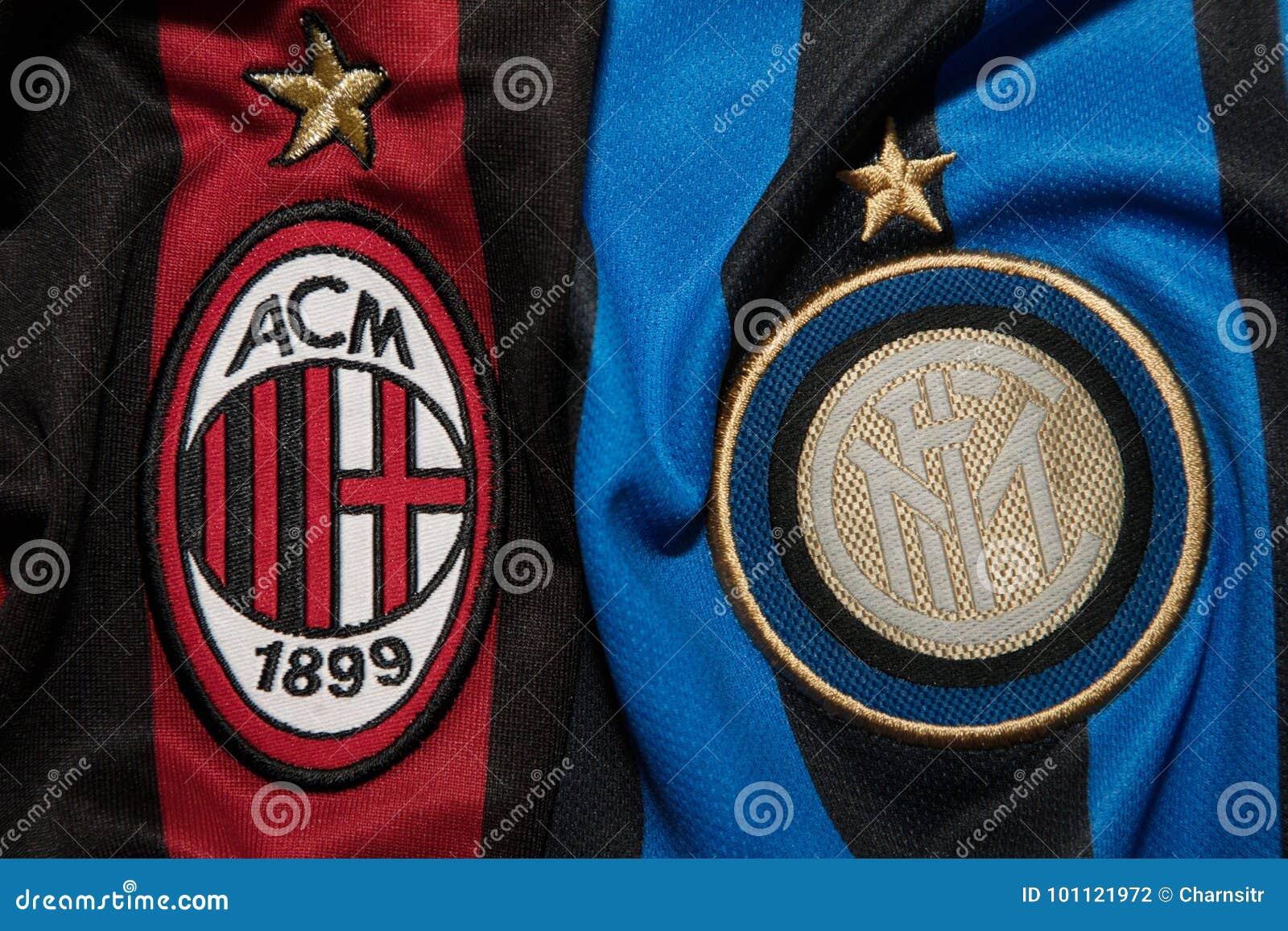 Bangkok Thailand August 5 Logo Of Ac Milan And Inter Milan Editorial Photography Image Of Background Inter 101121972