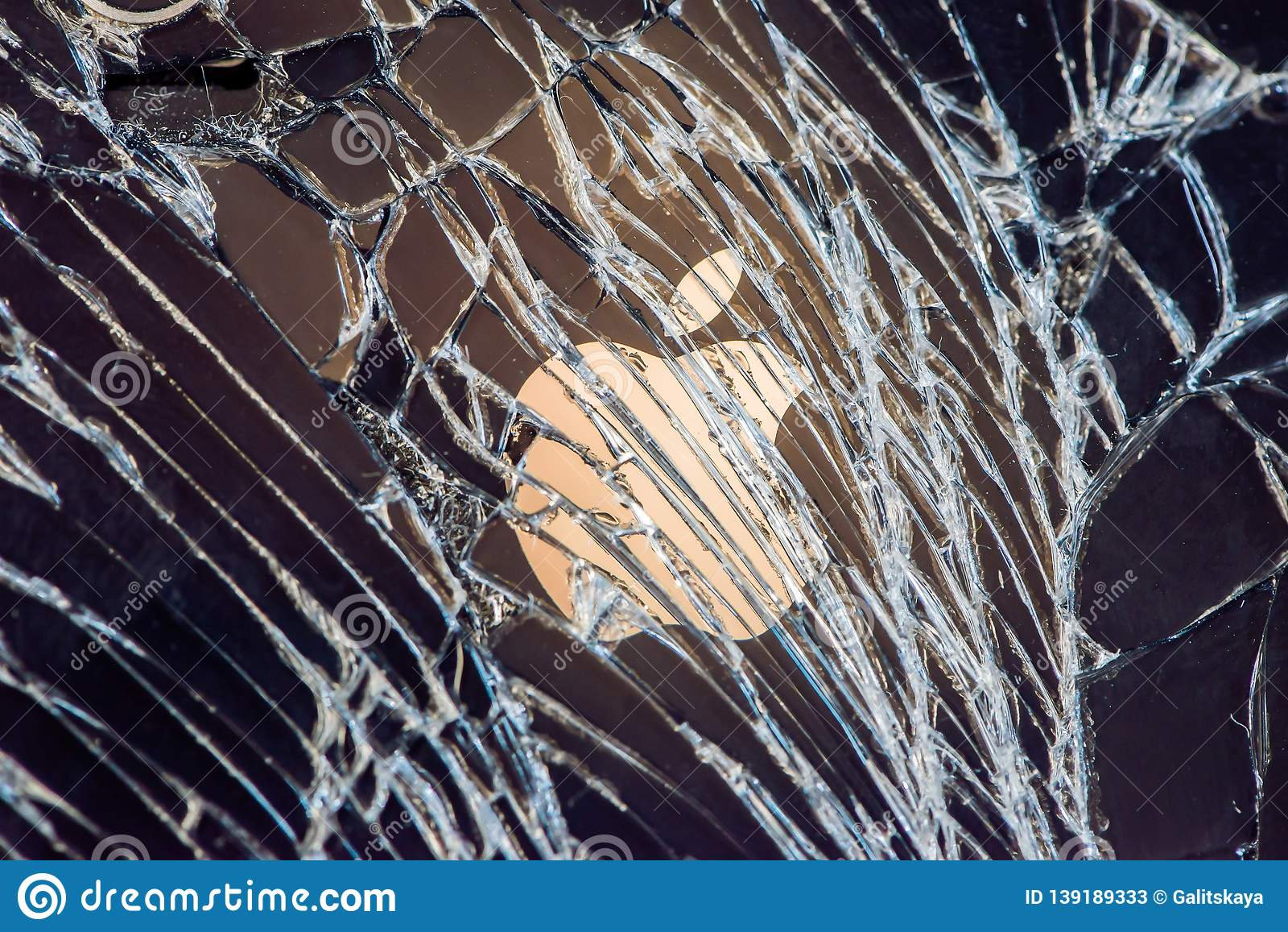 BANGKOK, THAILAND -AUGUST 23, 2017: Studio shot of Broken iphone