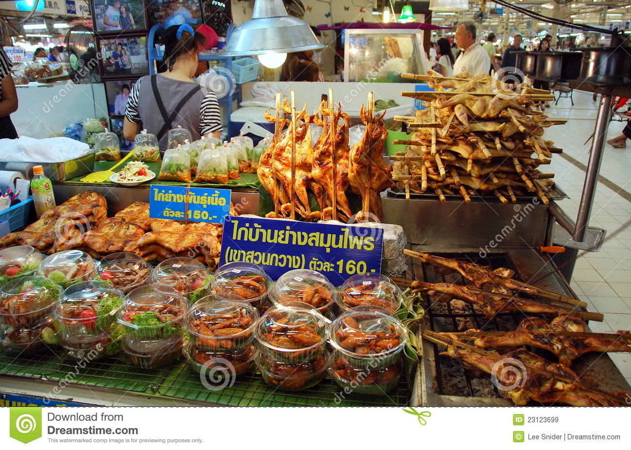 ... : Chatuchak Market Food Booth Editorial Stock Image - Image: 23123699