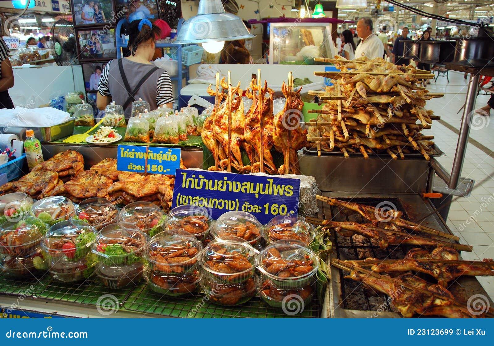 Bangkok, Thailand: Chatuchak Market Food Booth Editorial Stock Image ...