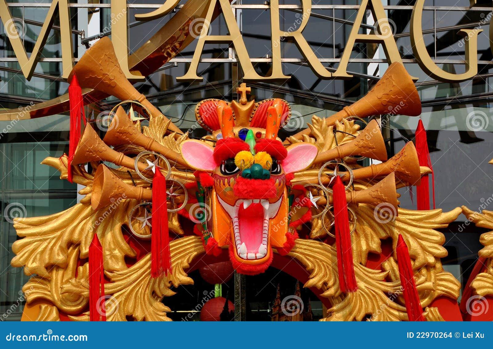 Bangkok, Thailand: De Chinese Draak van het Nieuwjaar