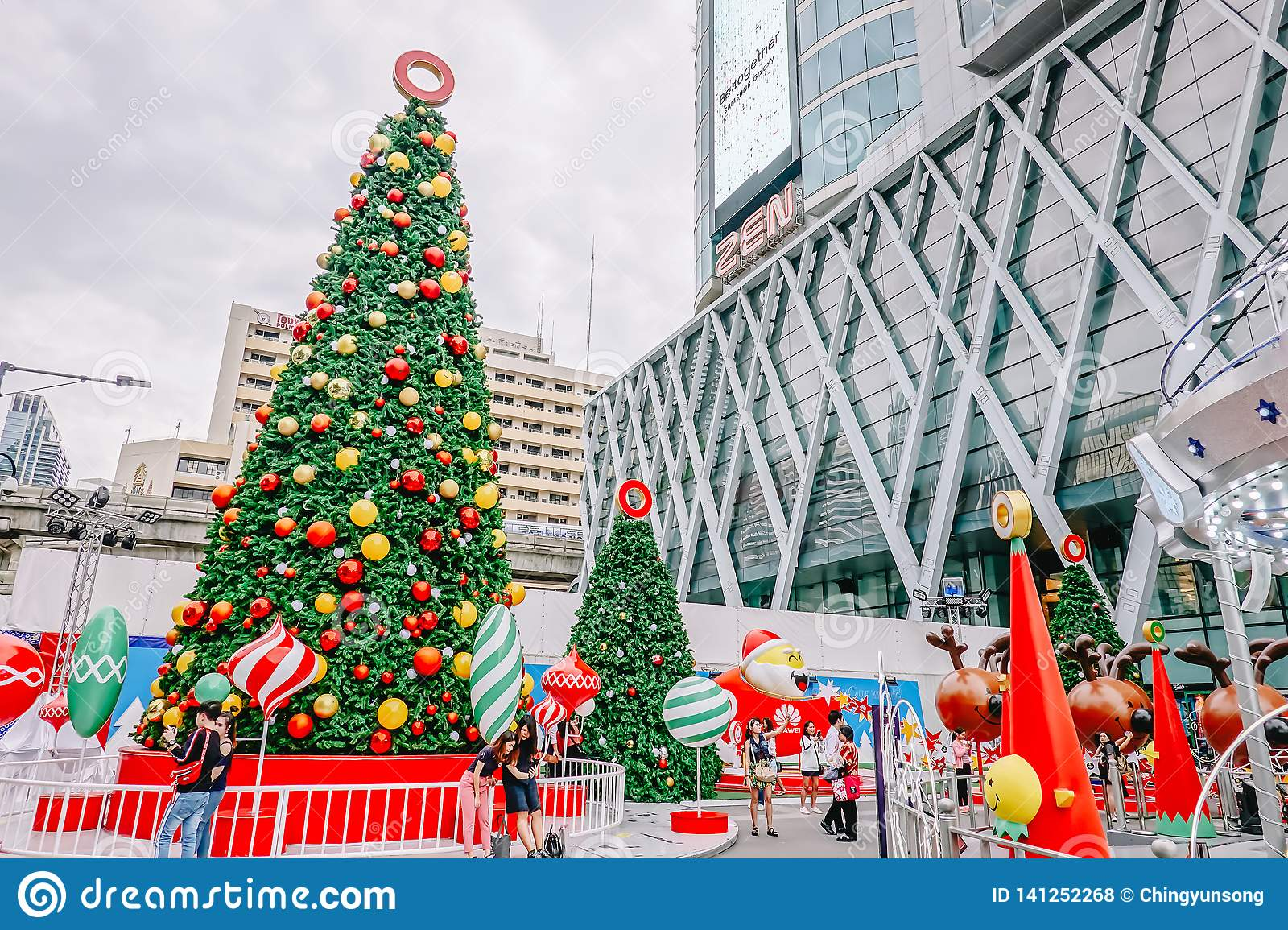 Welcome To Christmas.Centralworld Shopping Mall Welcome To Christmas And Happy