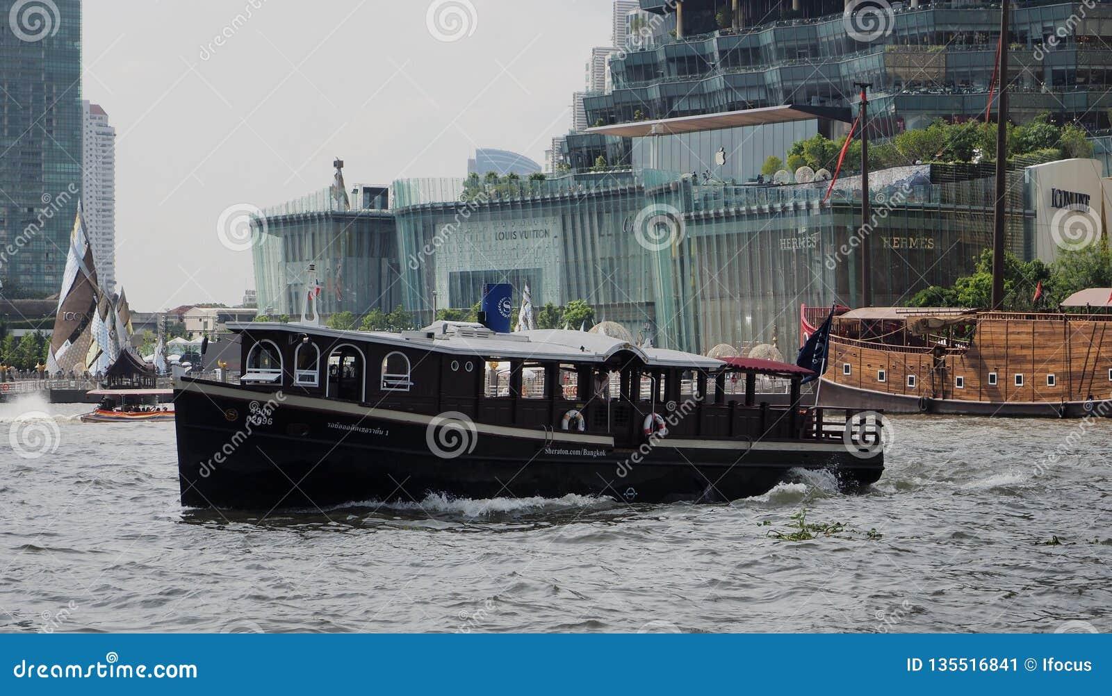 Sheraton Shuttle Boat On Chao Phraya River Editorial Photo - Image