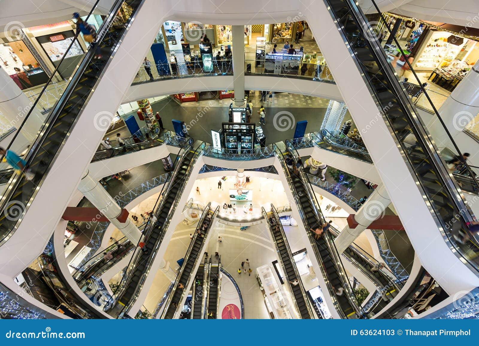 Bangkok, Thailand - 7 December 2015 : The interior of Terminal 21 (famous shopping mall at BTS Asoke and MTR Sukhumvit)