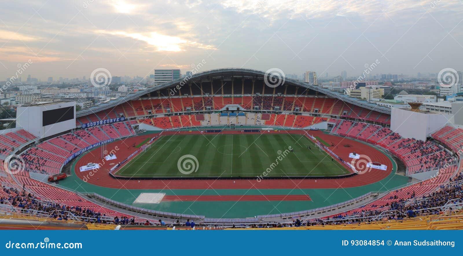 Bangkok Thailand December 8 2016 Panoramic View Of Rajamangala Home National Stadium Of