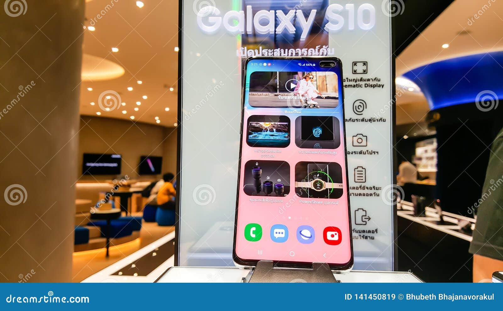 Galaxy Auto Mall >> Bangkok Thailand February 22 2019 Samsung Galaxy S10