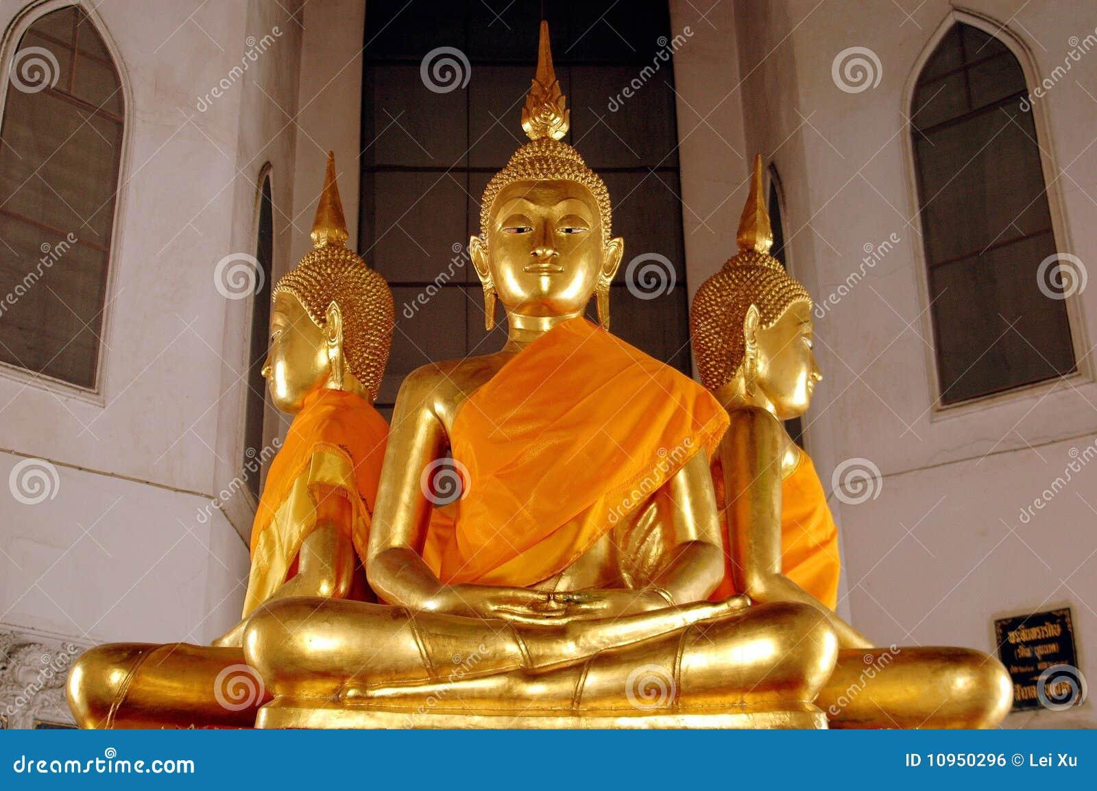 Bangkok, Thailand: Gilded Buddhas