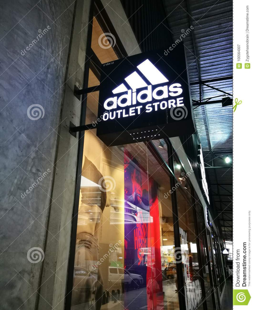 Adidas Factory Outlet editorial photography. Image of manufacturer ...