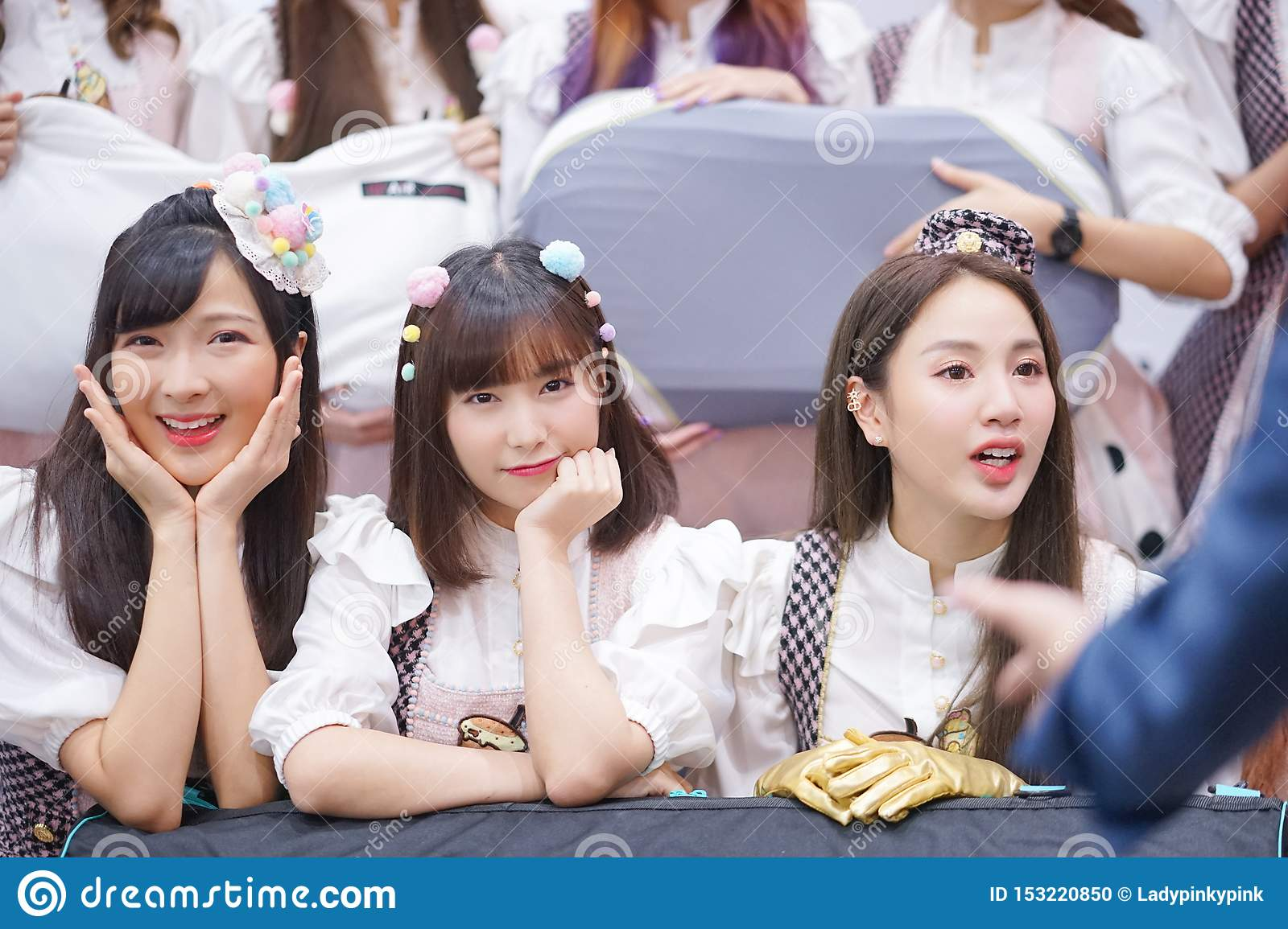 A Group Portrait Photo Of Thai Girl Idol Group Called