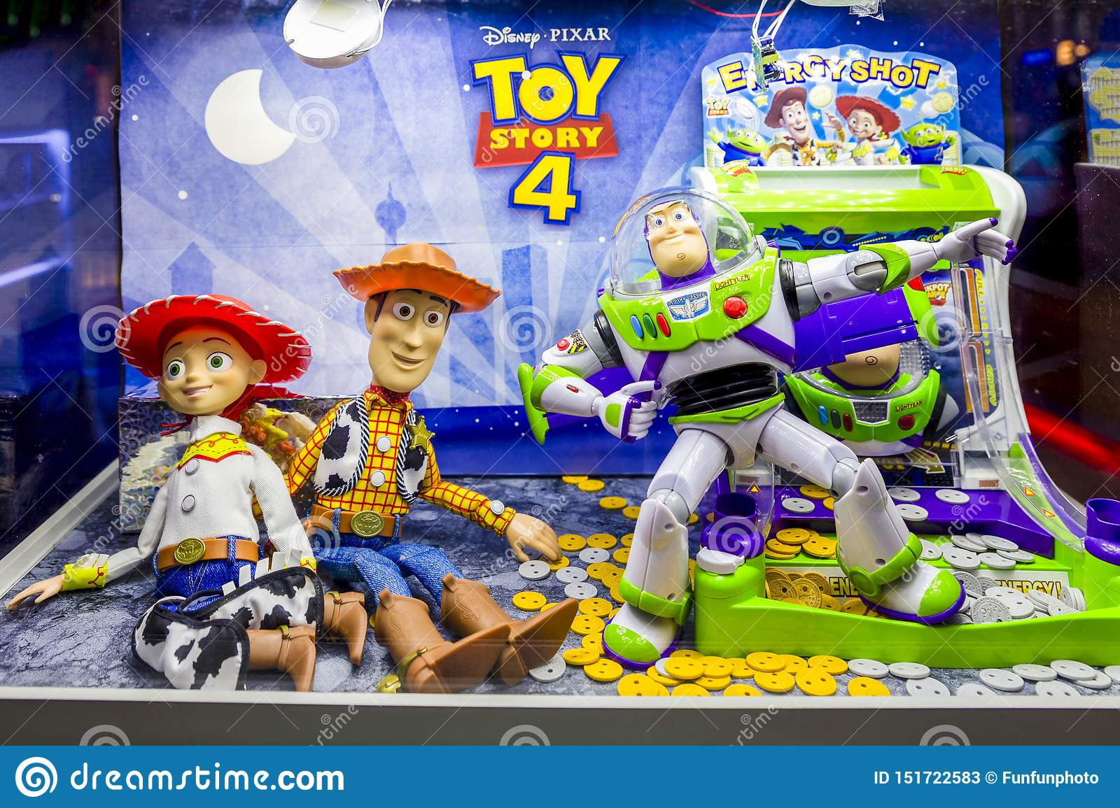 Bangkok, Thailand - June 22, 2019 : Toy Story 4 Movie Backdrop Display With  Cartoon Characters In Movie Theatre Editorial Stock Photo - Image of  business, figure: 151722583