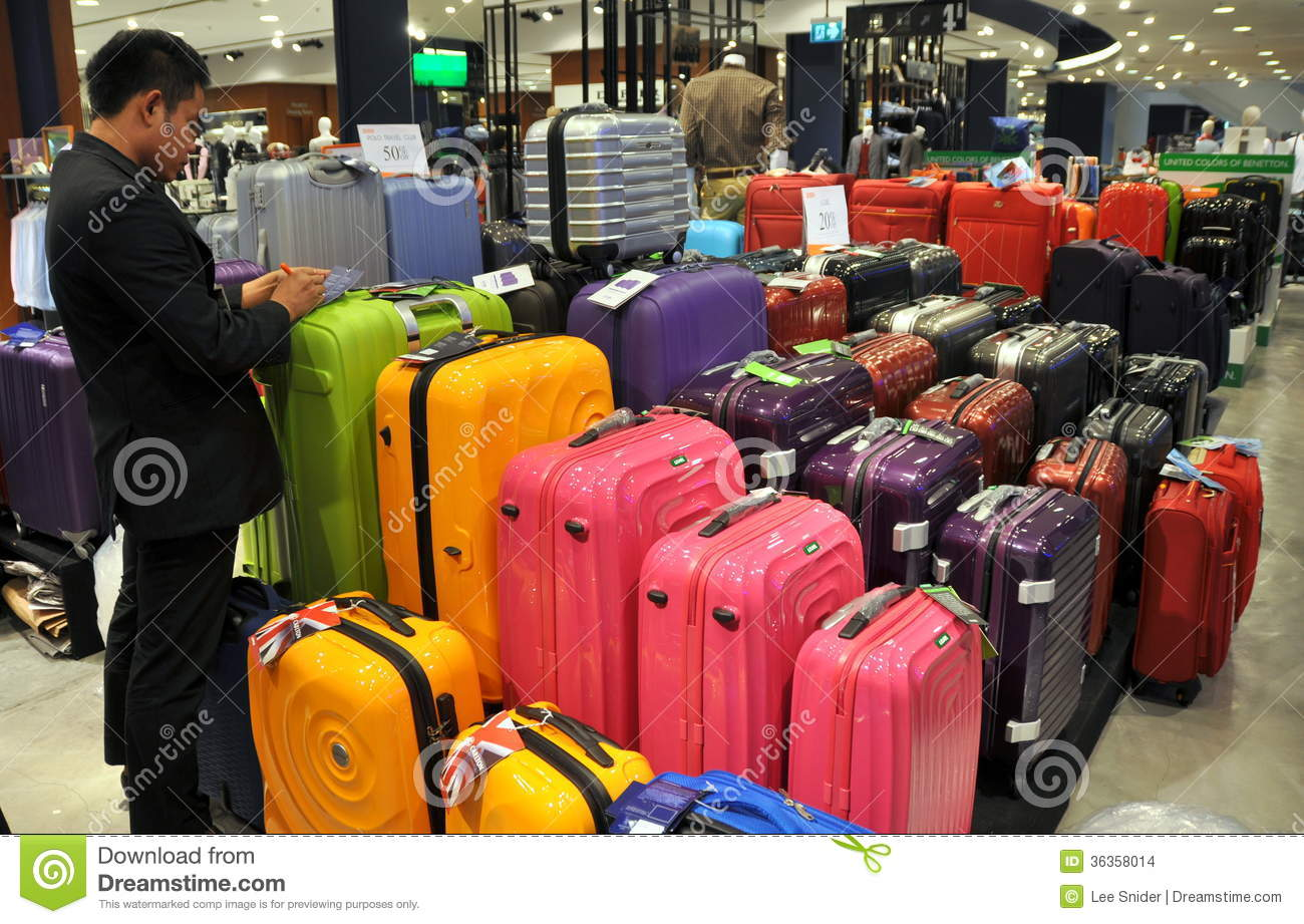 Bangkok, Thailand: Luggage Display At ZEN Editorial Stock Image ...