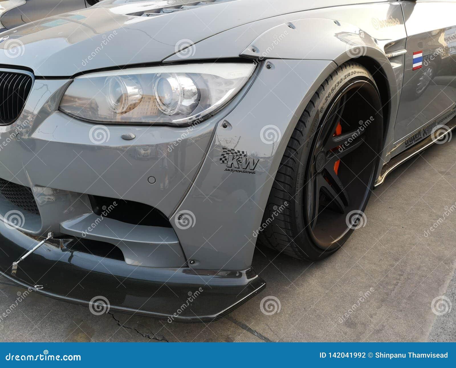 Bangkok, Thailand; 14 maart, 2019 BMW een krachtige versie, stemmende sportwagen