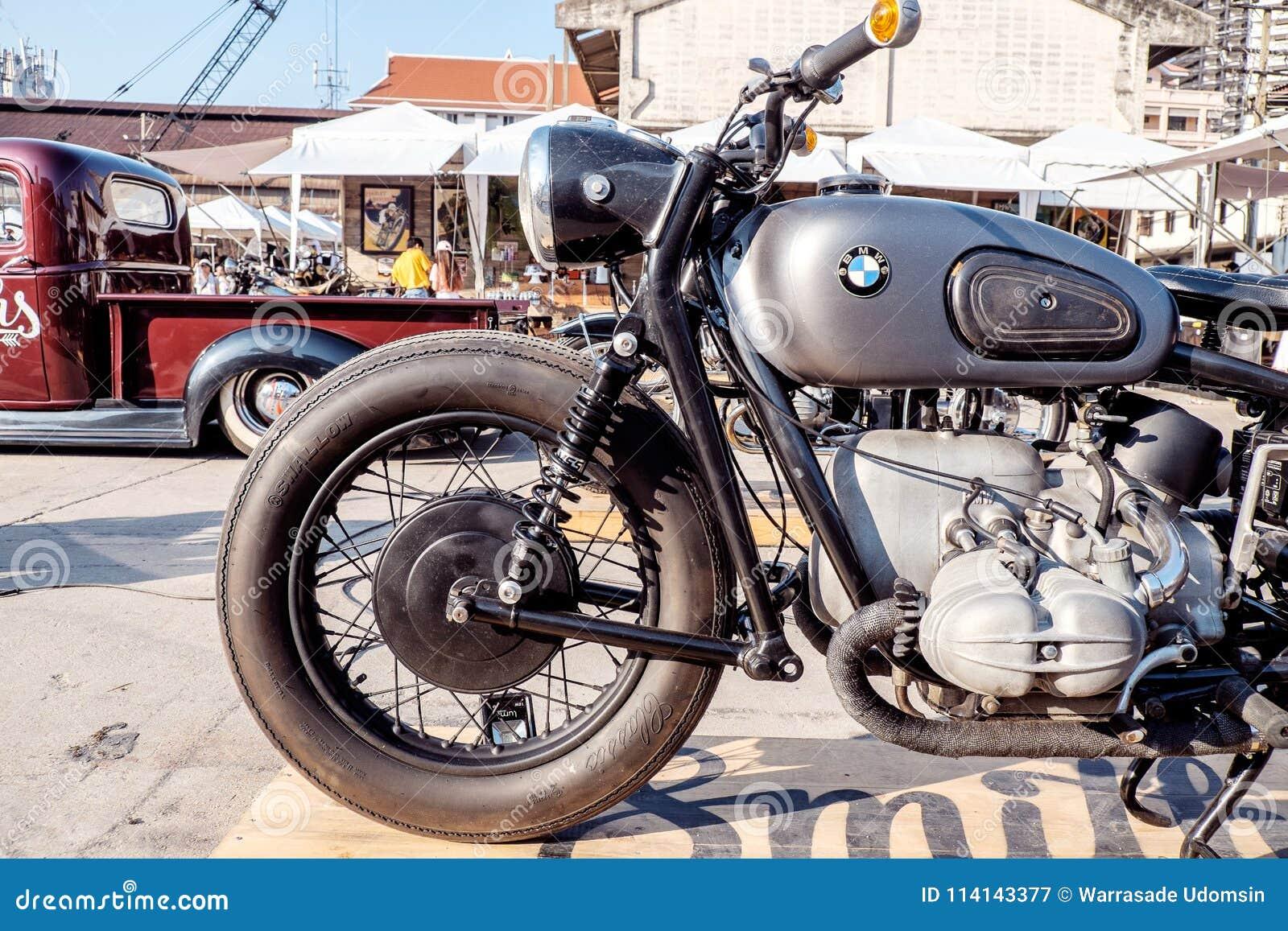 BANGKOK, THAILAND, - MARCH 3 2018: A BMW Motorcycle Was