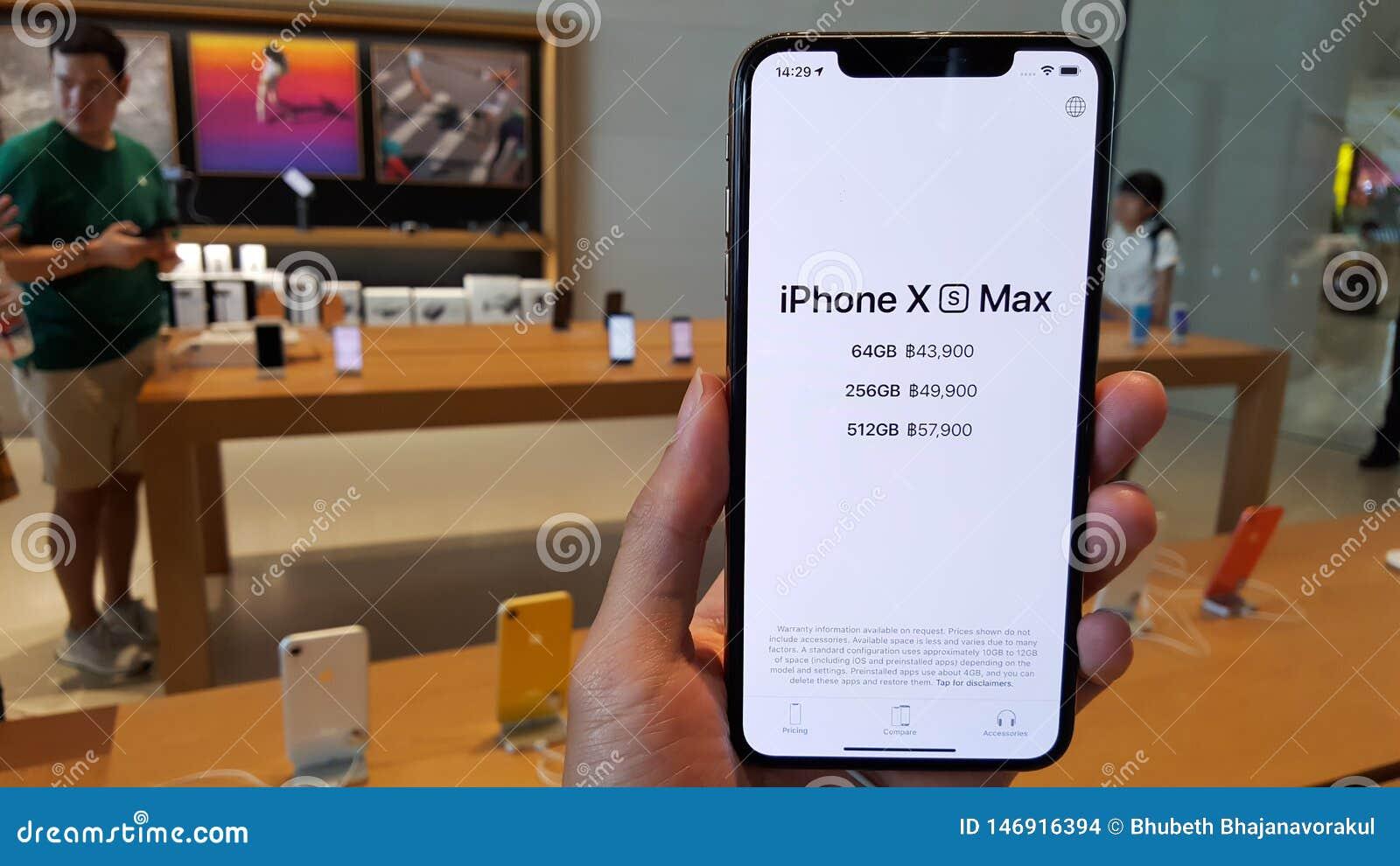 Bangkok Thailand May 6 2019 The New Apple Iphone Xs Max Is