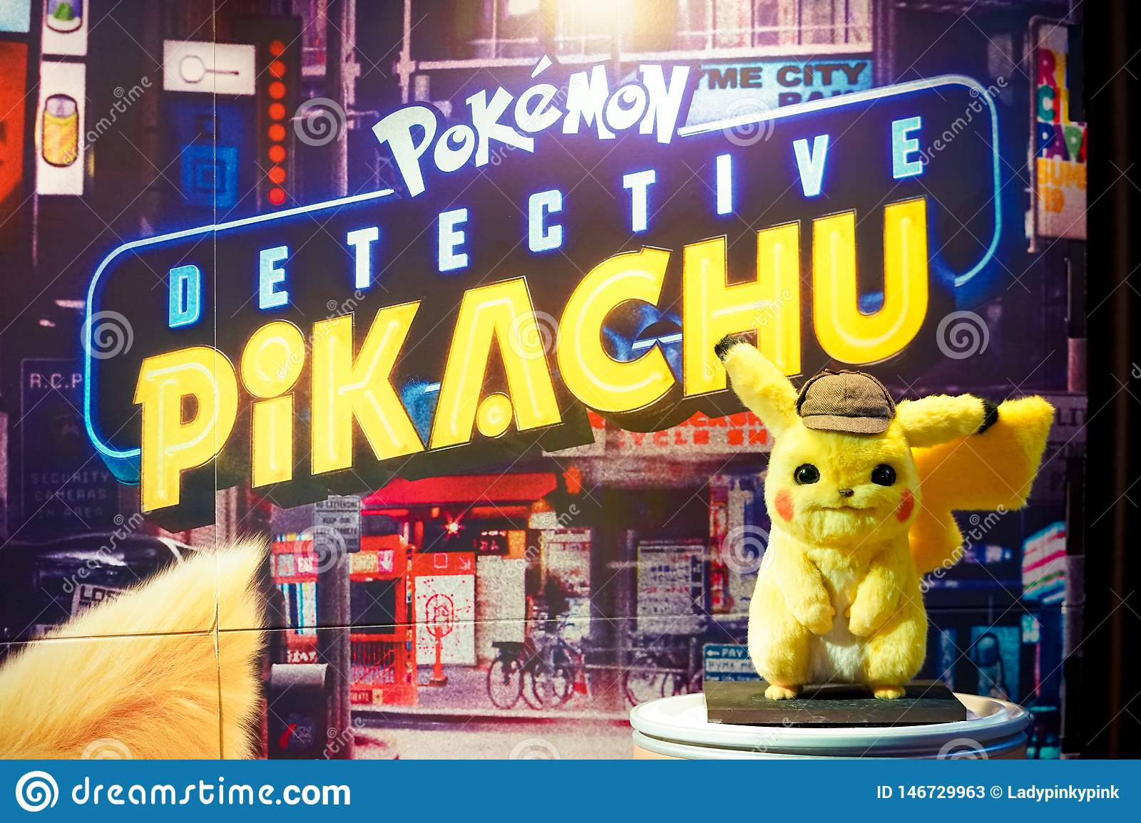 Pokemon Detective Pikachu Movie Standee In Front Of Theatre To