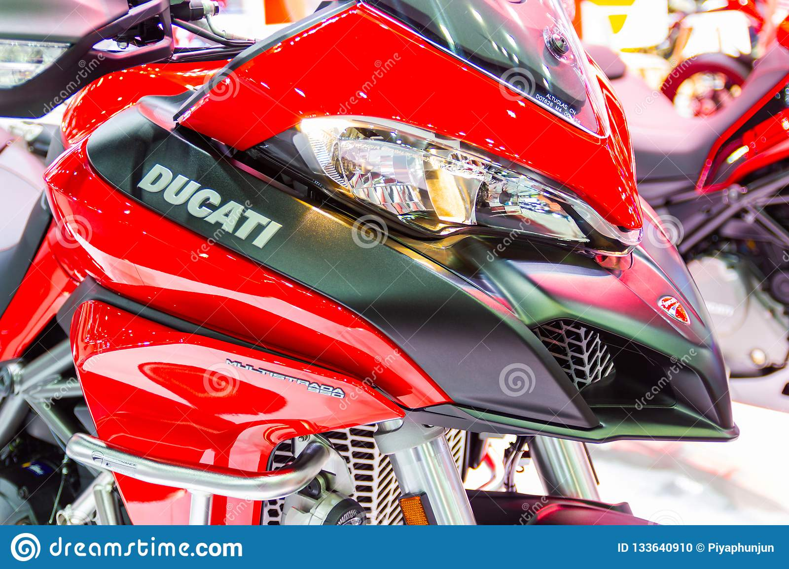 The Front Of Motorcycle Ducati Logo Ducati Red Motorcycle