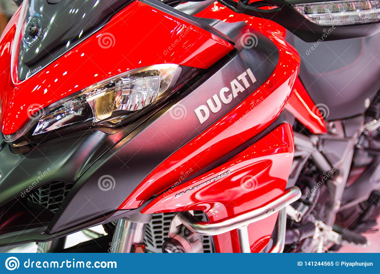 The Front Of Motorcycle Ducati Logo Ducati Red Motorcycle At