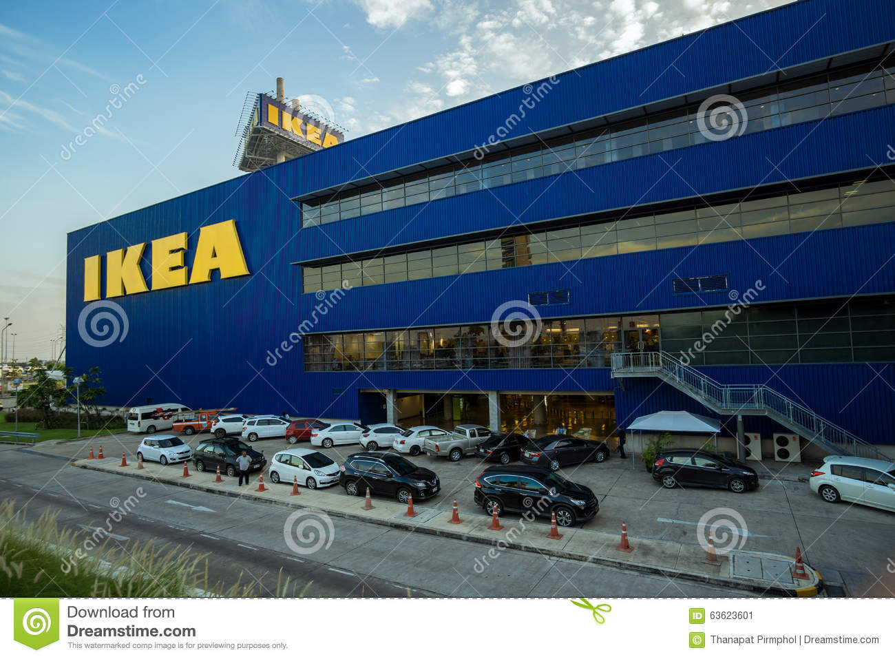 Bangkok, Thailand - 28 November 2015 : The Landscape of the First Ikea Store of Thailand at Mega Bangna Shopping Mall