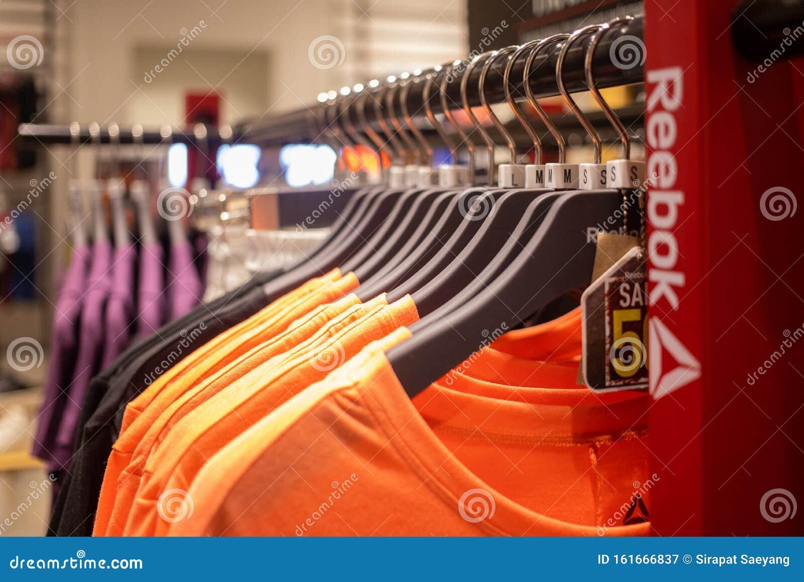 Sport wear in Reebok shop editorial