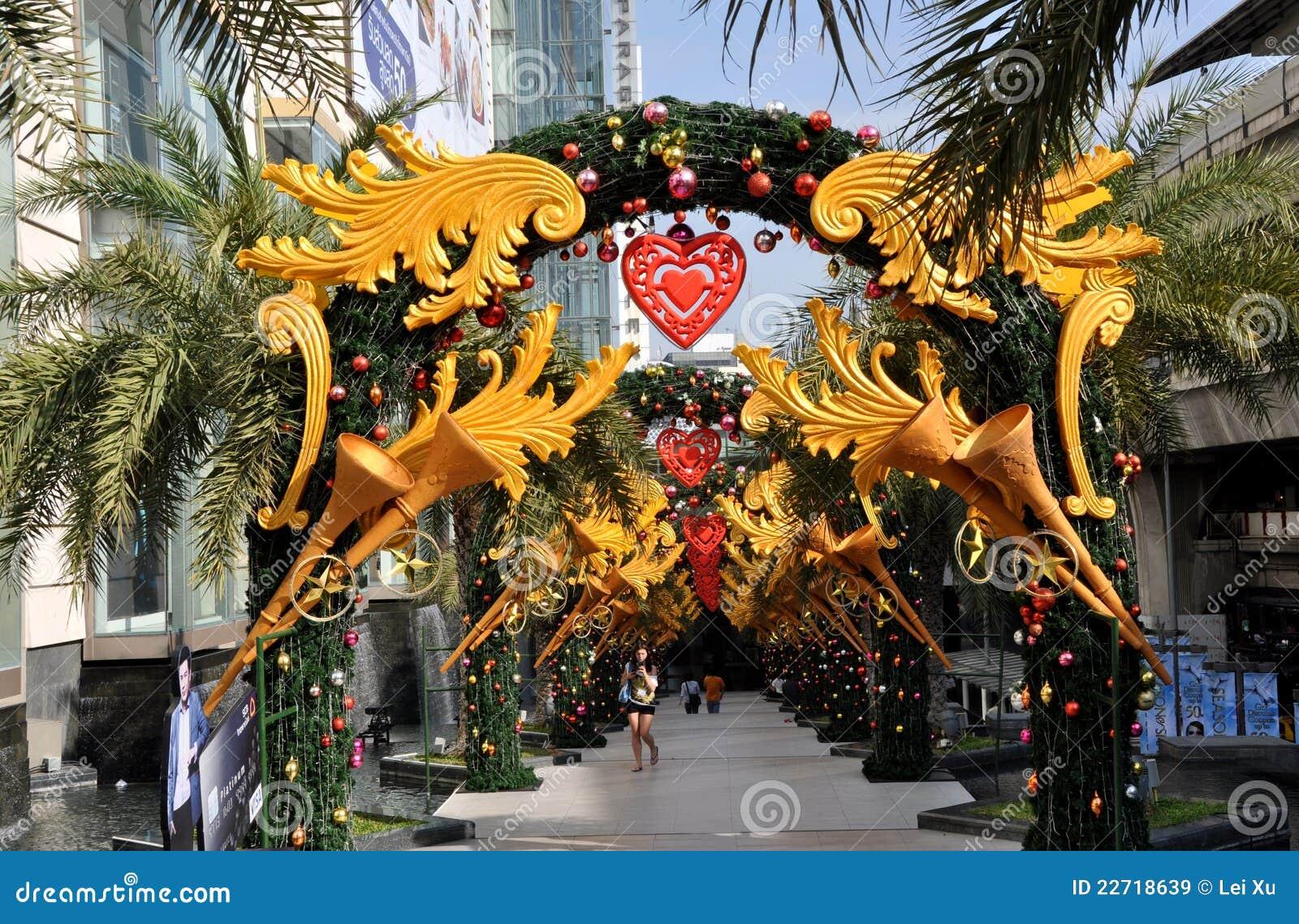Bangkok Thailand Siam Pargon Xmas Decorations Editorial