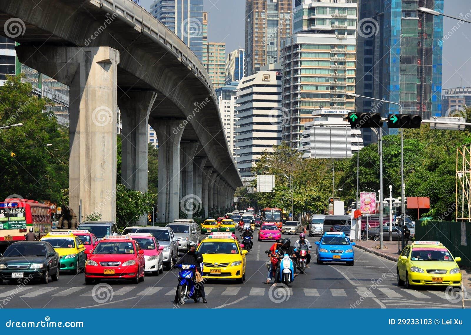 Bangkok, Thailand: Silom Road Traffic