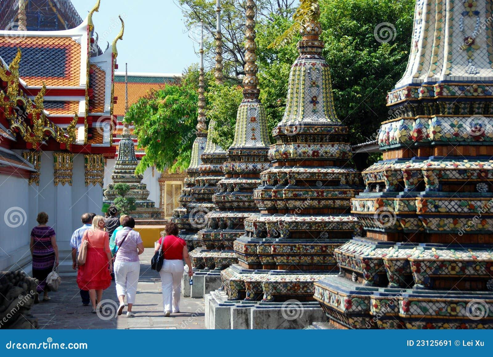 Bangkok, Thailand: Tour Group at Wat Pho
