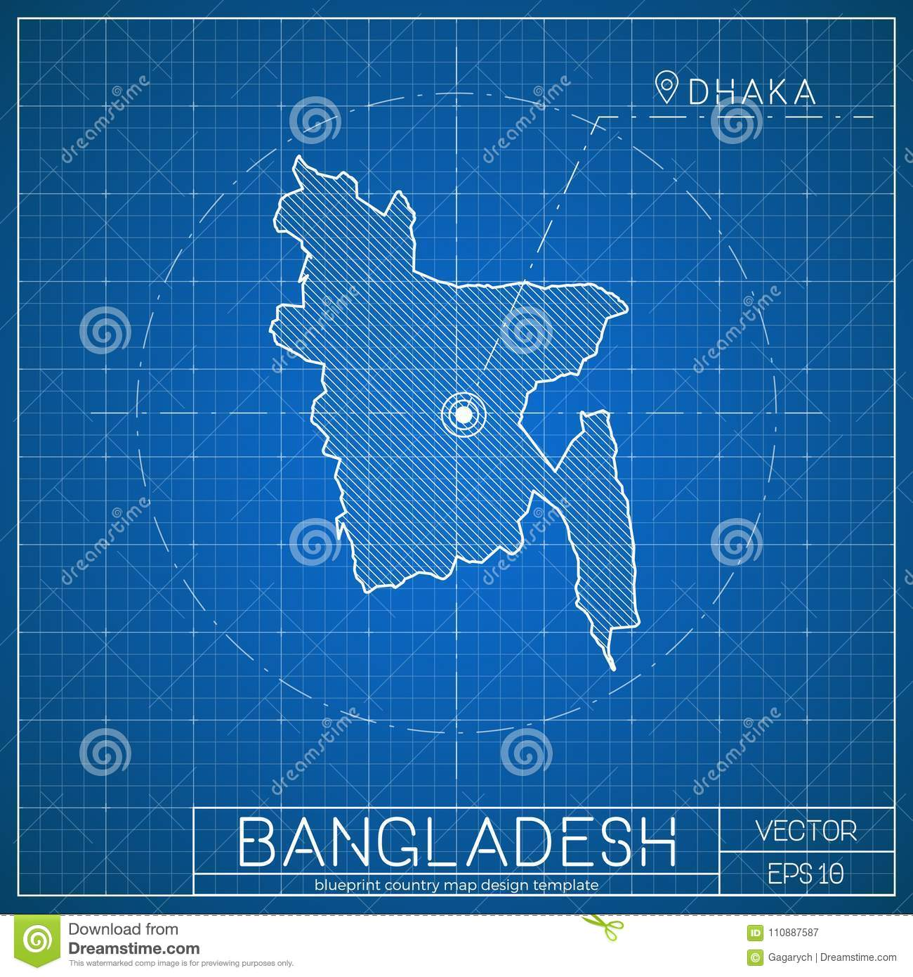 Bangladesh blueprint map template with capital stock vector download bangladesh blueprint map template with capital stock vector illustration of arrow architecture malvernweather Images