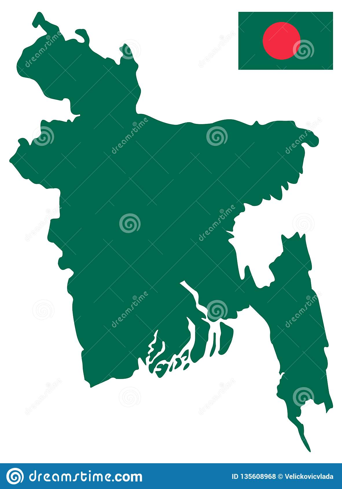 Bangladesh On Map Of Asia.Bangladesh Flag And Map Republic Of Bangladesh Is A Country In
