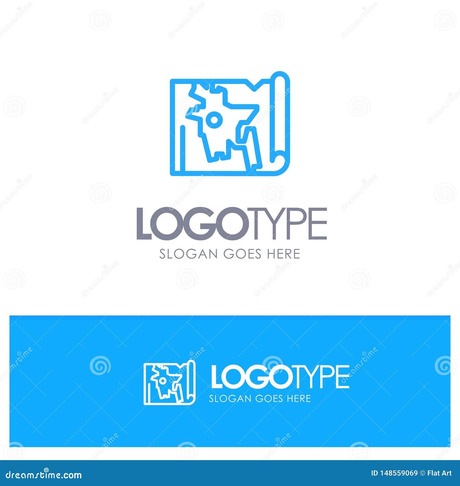 Bangladesh, Map, World, Bangla Blue Outline Logo Place For ...