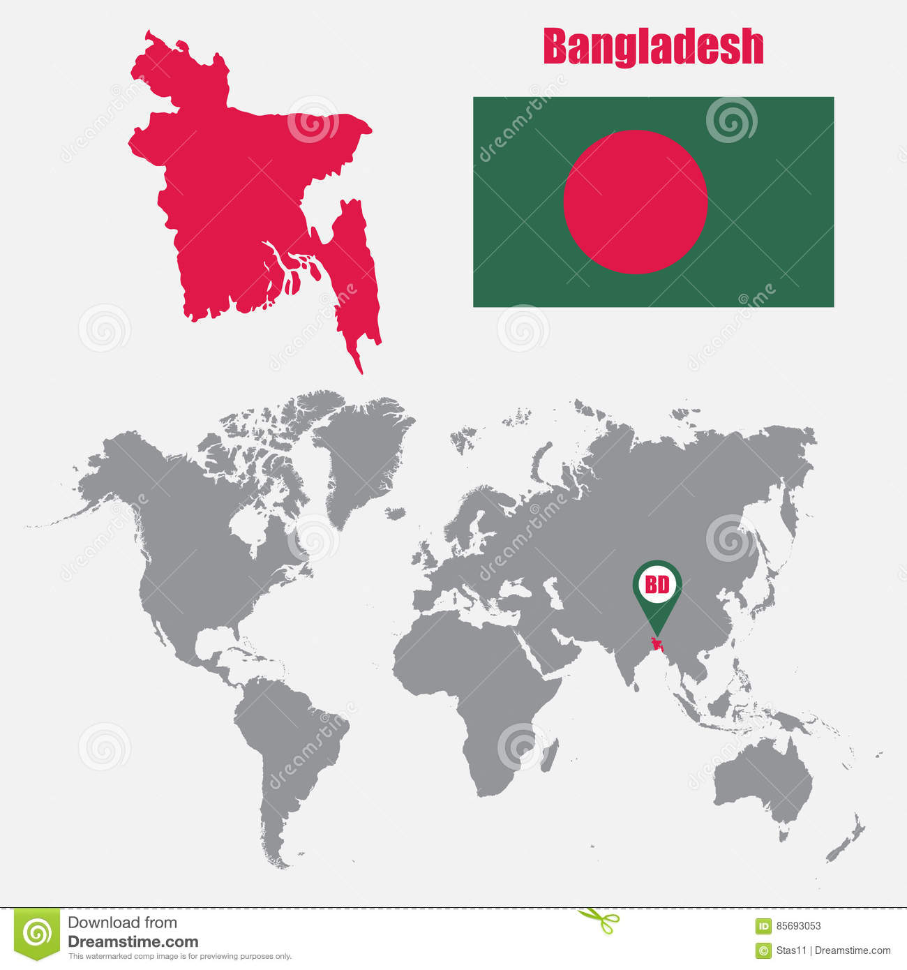 Bangladesh map on a world map with flag and map pointer vector download bangladesh map on a world map with flag and map pointer vector illustration stock gumiabroncs Gallery