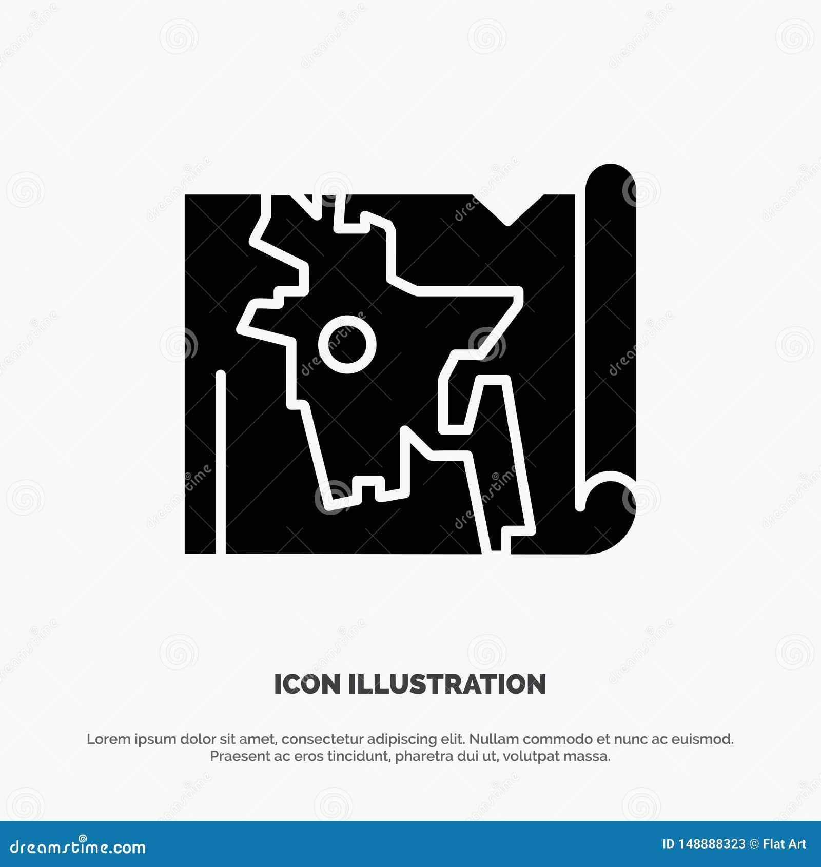 Bangladesh, mapa, mundo, vector sólido del icono del Glyph de Bangla
