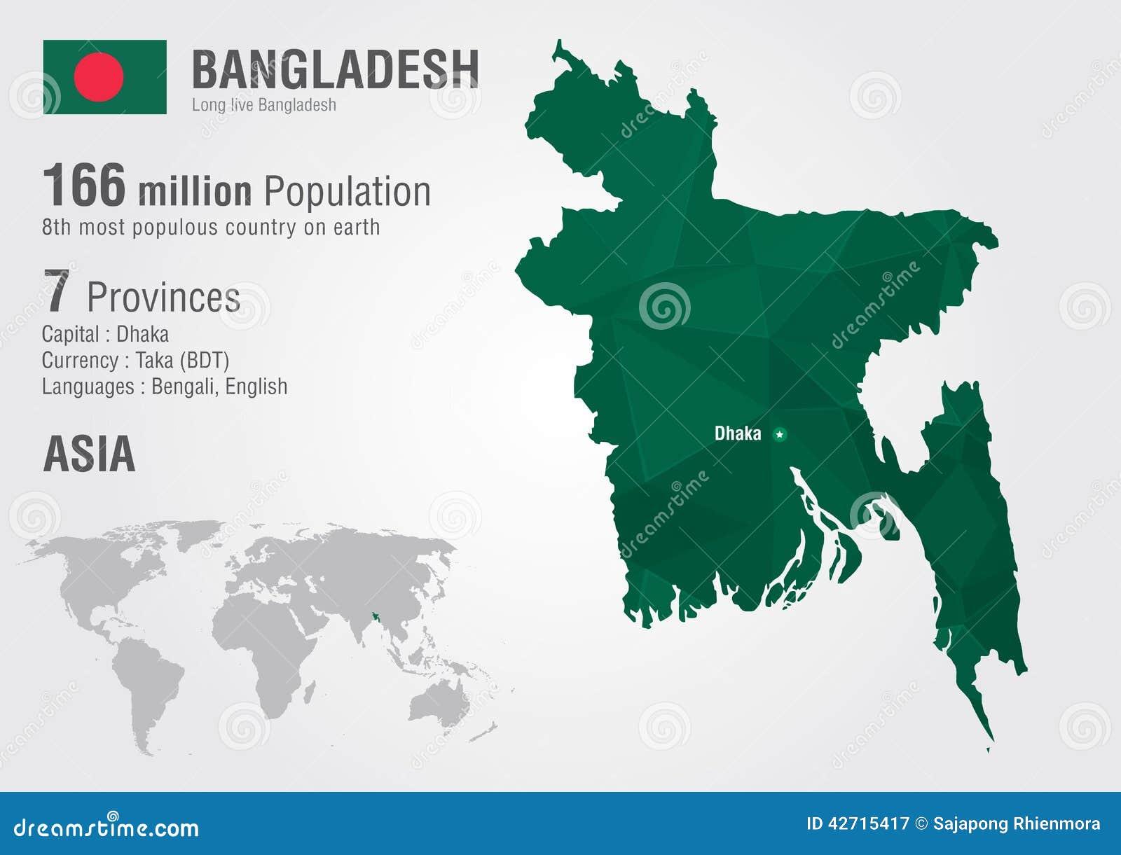 Bangladesh world map woth a pixel diamond texture stock vector bangladesh world map woth a pixel diamond texture gumiabroncs Images