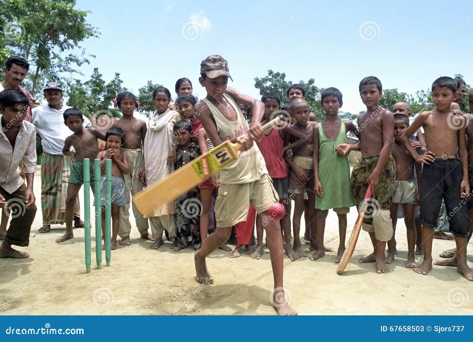 Bangladeski krykiet bawić się chłopiec, Bangladesz