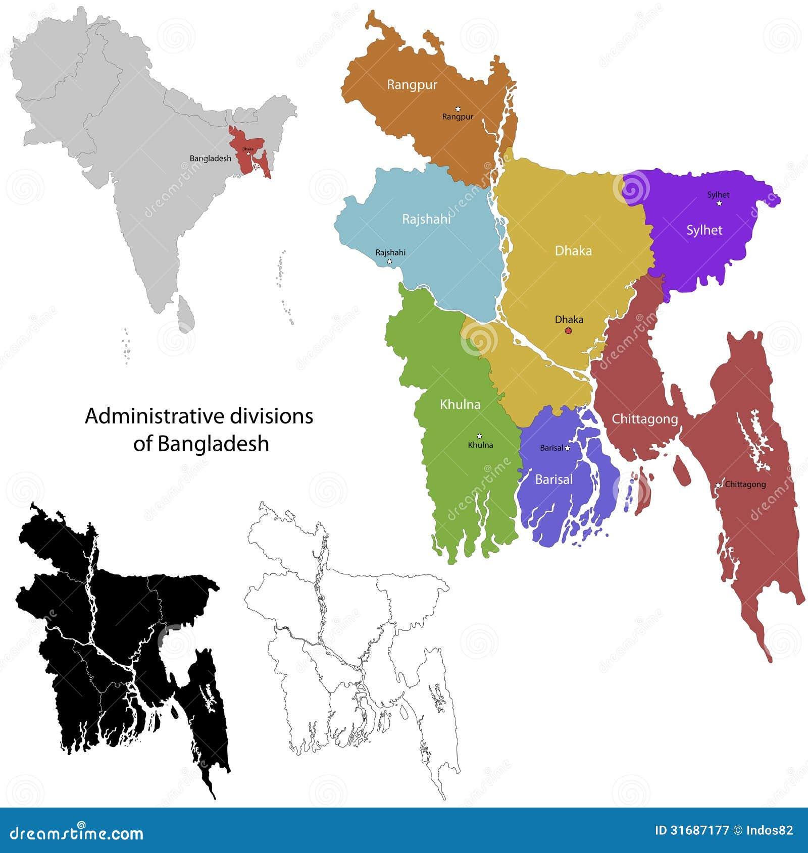 Bangladesz mapa