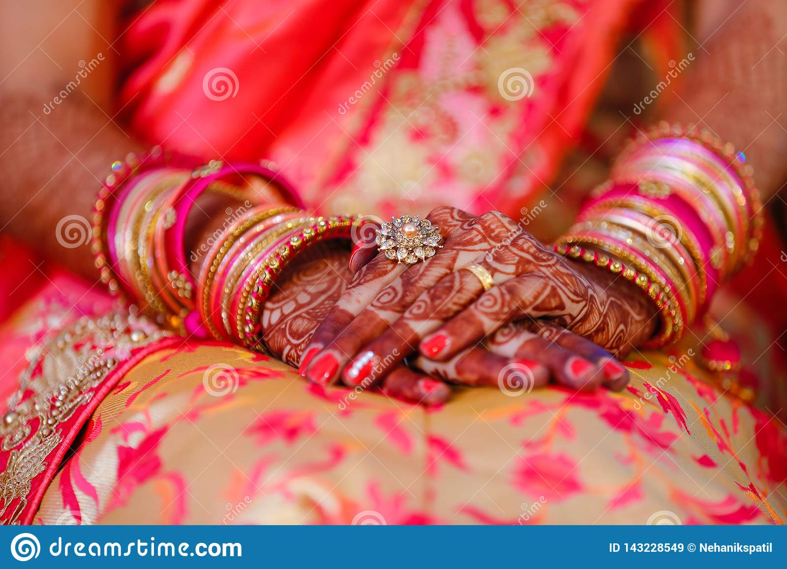 Bangles bride hand stock image. Image of jewellery, male