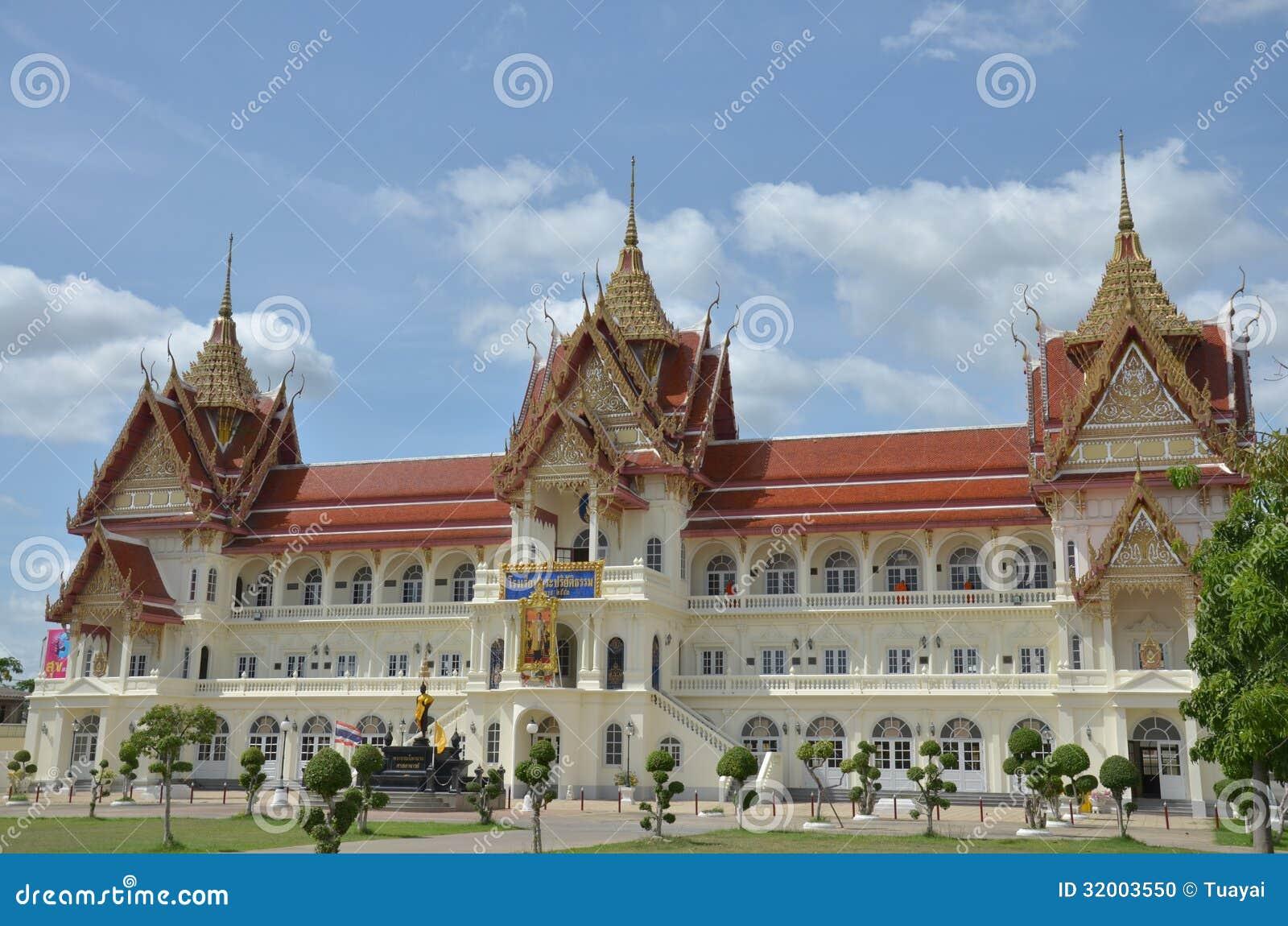 Bangpai temple nontaburi thailand stock photo image for Wat architecture