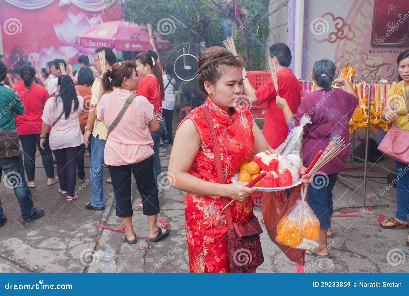 Download BANGUECOQUE, Chinatown/THAILAND- 10 De Fevereiro: Ano Novo Chinês Imagem de Stock Editorial - Imagem de banguecoque, demonstração: 29233859