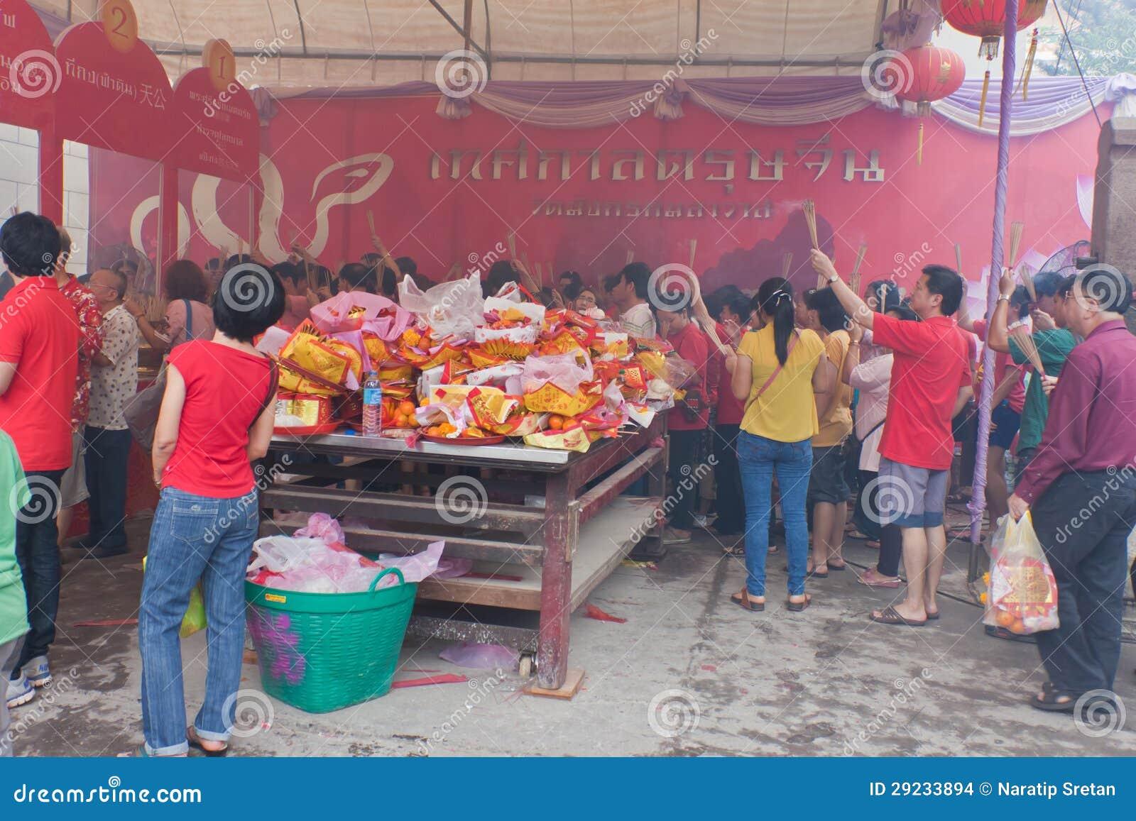Download BANGUECOQUE, Chinatown/THAILAND- 10 De Fevereiro: Ano Novo Chinês Imagem de Stock Editorial - Imagem de chinês, afortunado: 29233894