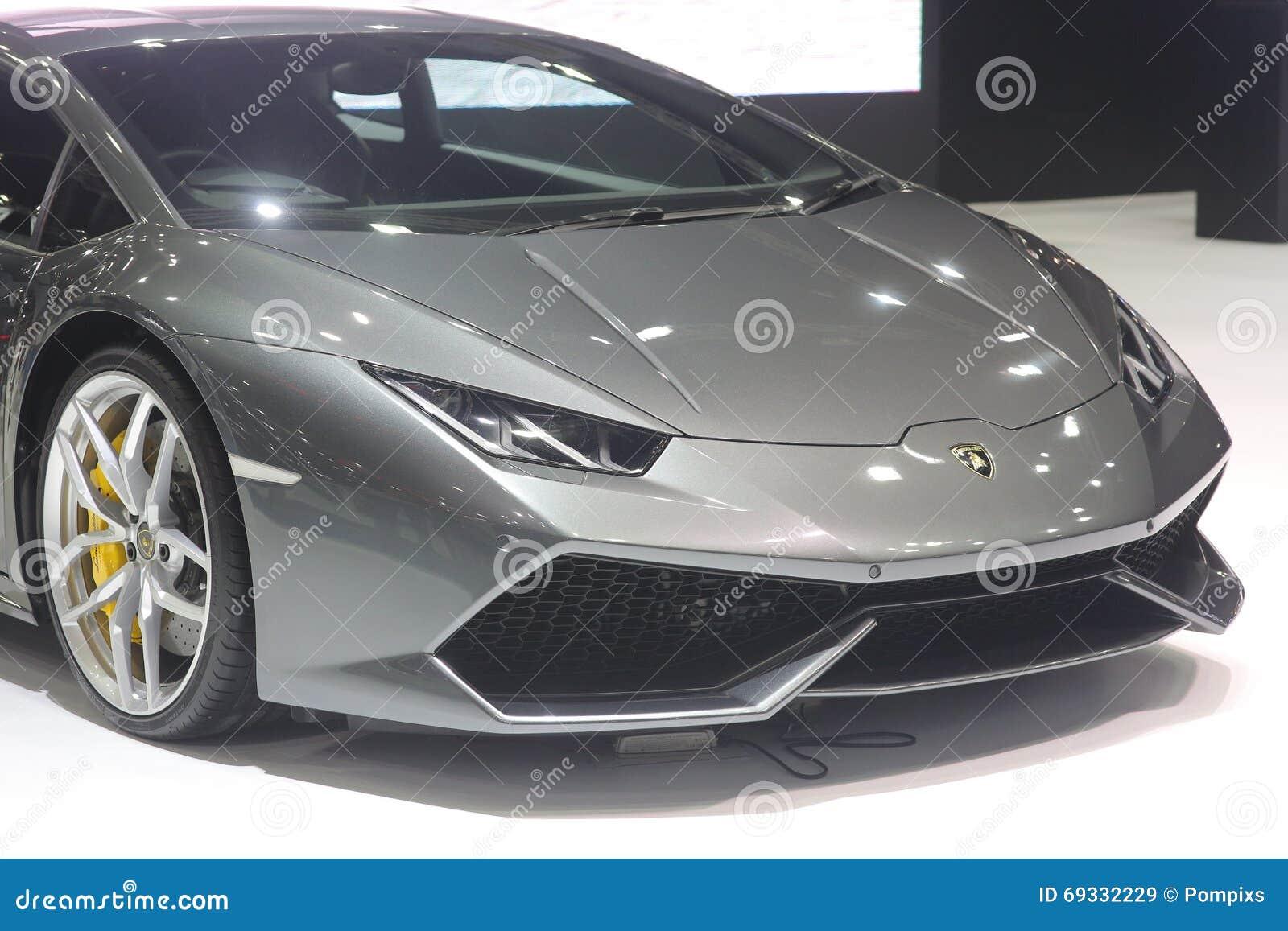 Banguecoque - 31 de março: Lamborghini huracan no carro cinzento na 37th exposição automóvel internacional 2016 de Banguecoque Ta