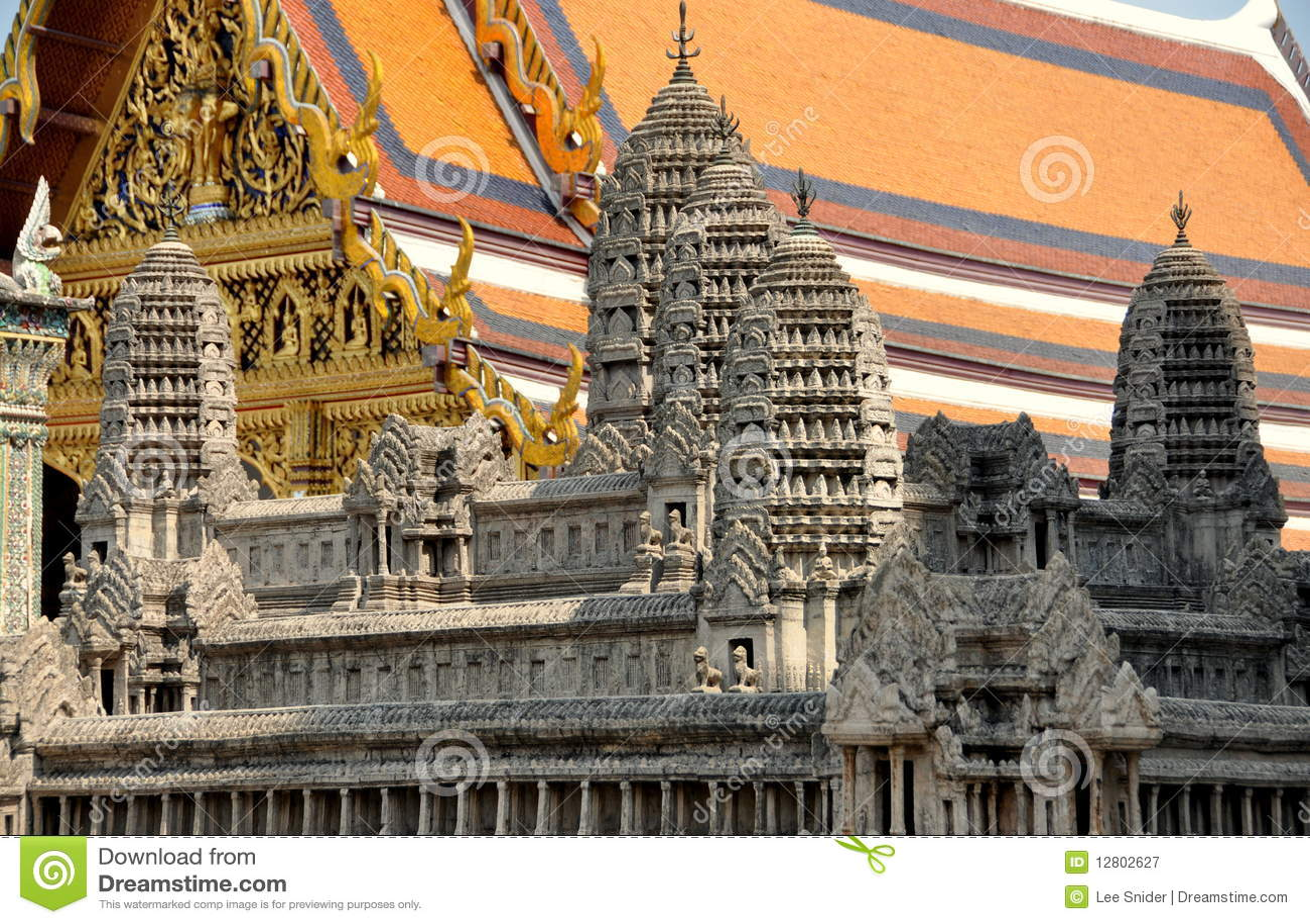 Banguecoque, Tailândia: Angkor Wat no palácio grande