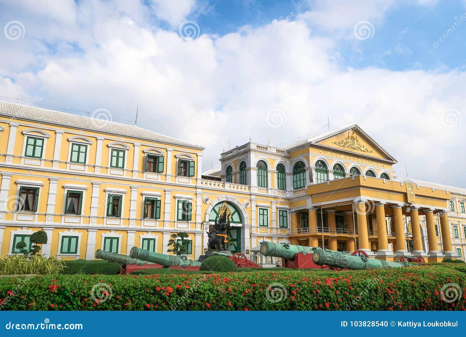 Banguecoque, Tailândia - 9 de novembro de 2016: Ministério de defesa Buildi
