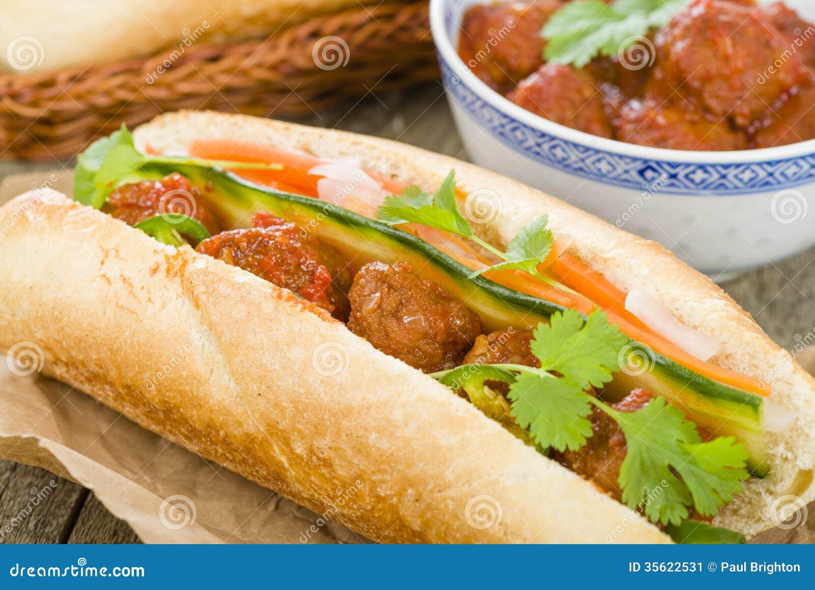 ... sauce, do chua (radish and carrot pickle), cucumber and coriander