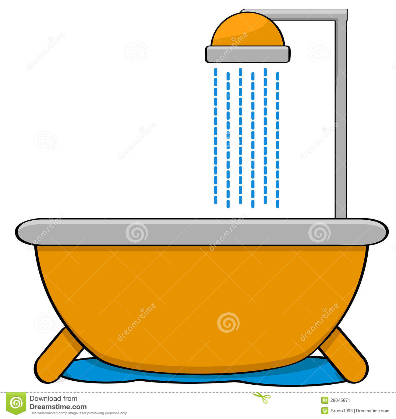 desenhos animados que mostra uma banheira com uma cabeça de chuveiro #CA8001 1300x1390 Banheiro Com Banheira De Canto E Chuveiro