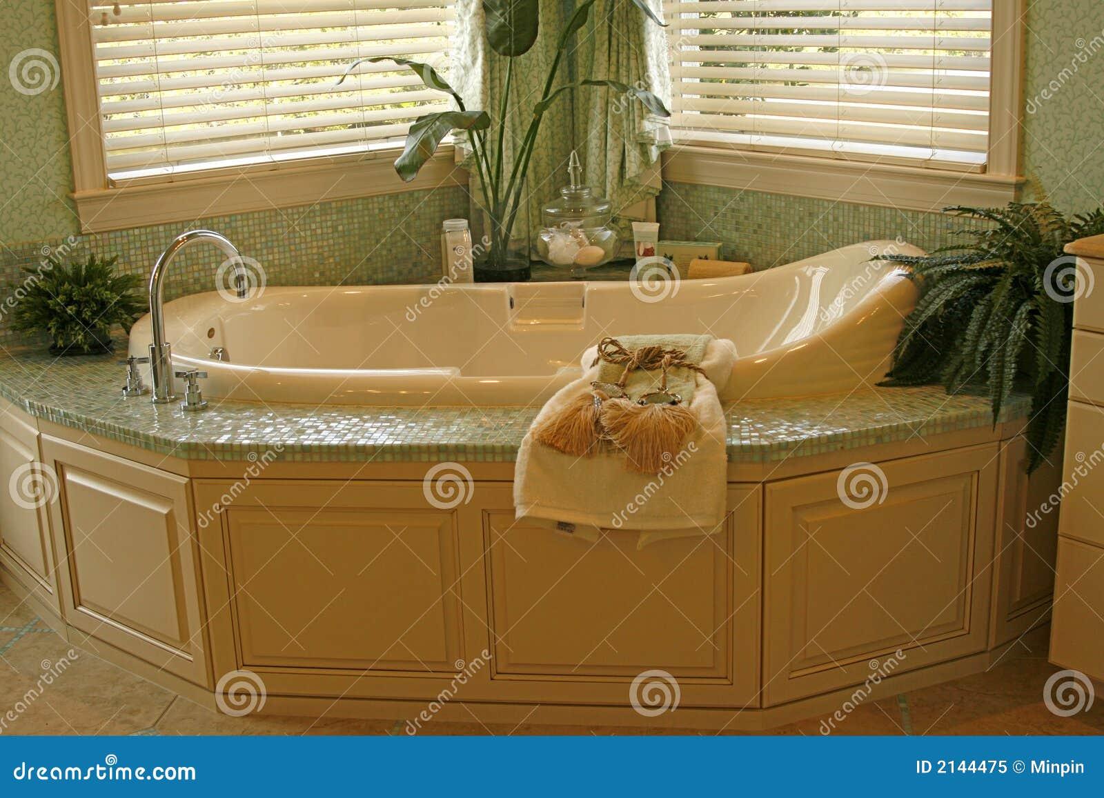 Banheira interna no canto de plantas withtropical do banheiro de  #714B1A 1300 957