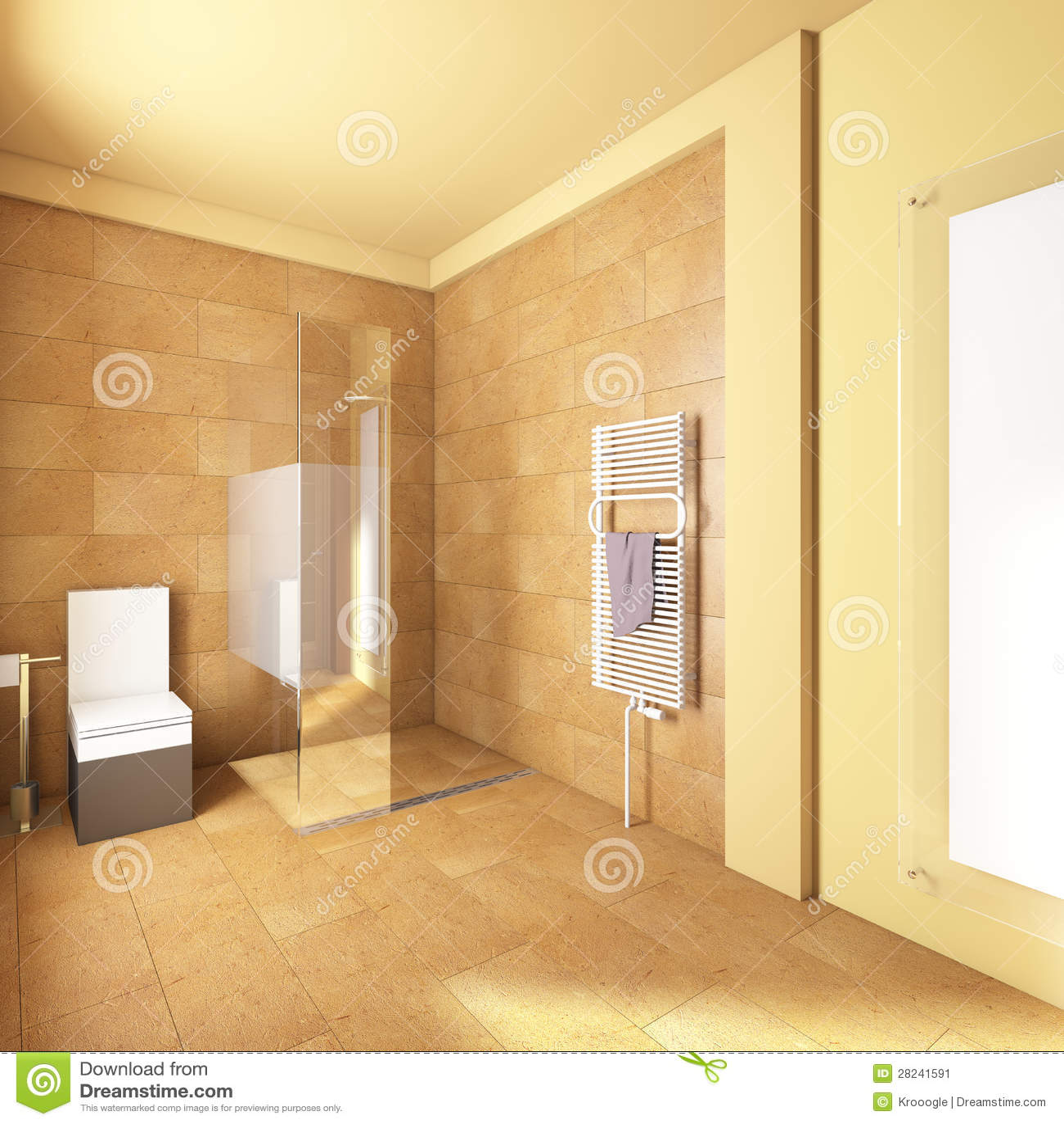 Banheiro amarelo com telhas da areia. #AA7E21 1300 1390